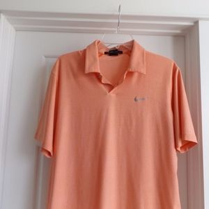 Nike Tiger Woods Collection Peach Medium golf Polo